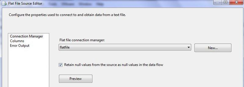 Retain null values from source as null values in data flow