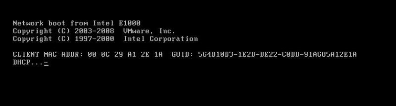 PXE Boot from network