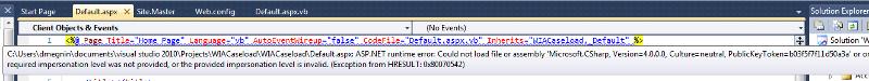 Page declaration error