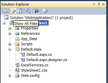 Solution Explorer -- Show All Files