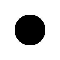 200x200 with 100 diam circle