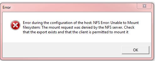Error when mounting
