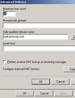 PrintScreen of FQDN