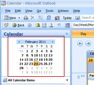 This is the Calendar view