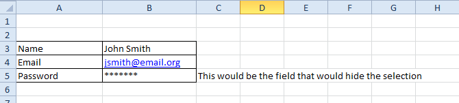 Example for Excel