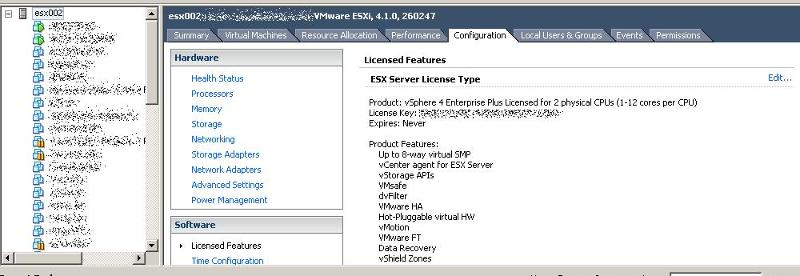 adding ESX license