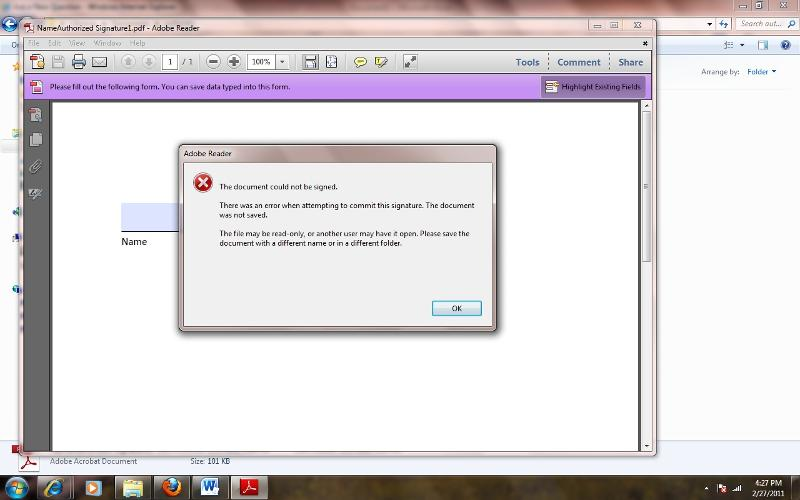 Adobe Error
