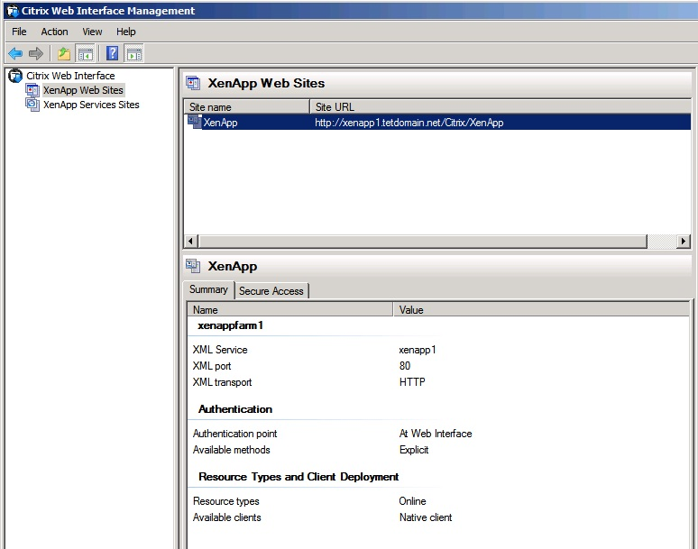 Web site configured