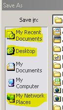 Office 2010 File Open/Save Dialog Box