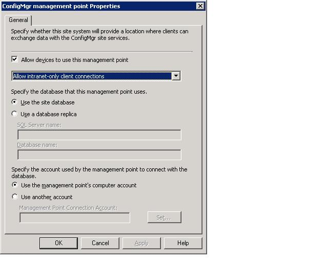 SCCM console screenshot