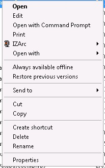 "Right click context menu (no ""Run as Administrator"" option)"