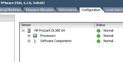 VMware client not showing disk monitoring either.
