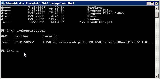 Power Shell Output