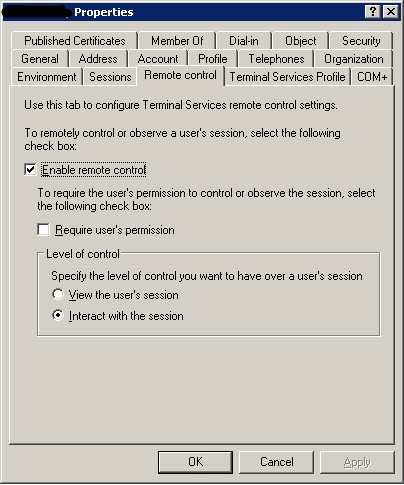 Remote Control Tab