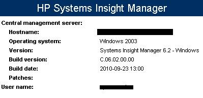 Screenshot of HP SIM 6.2 Install