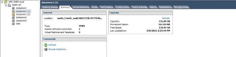 Datastore capacity
