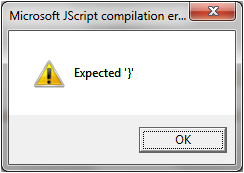 Expected '}' Error