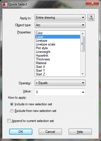 Quick Select Window