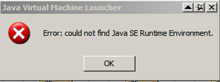 Java error message when opening program