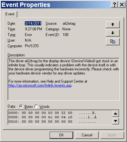 system log error message #1