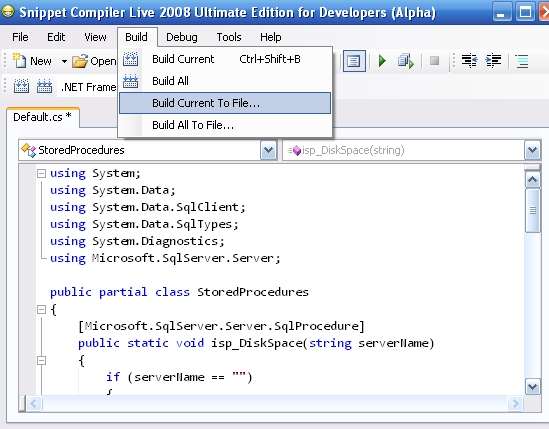 snippet compiler