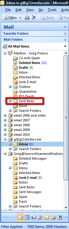 image of email folders