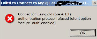 MySQLworkBench Error