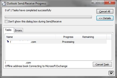 Address on stuck processing book offline
