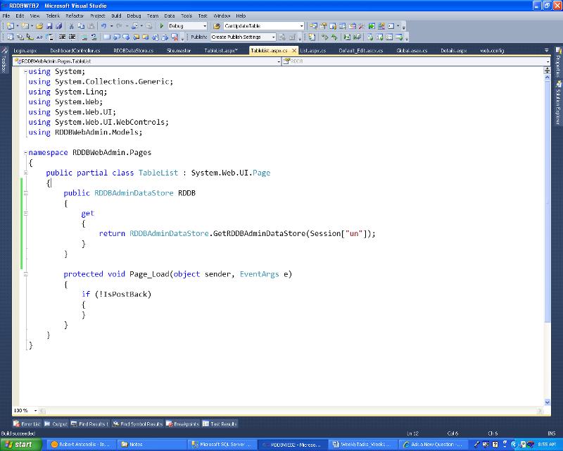 Code Behind