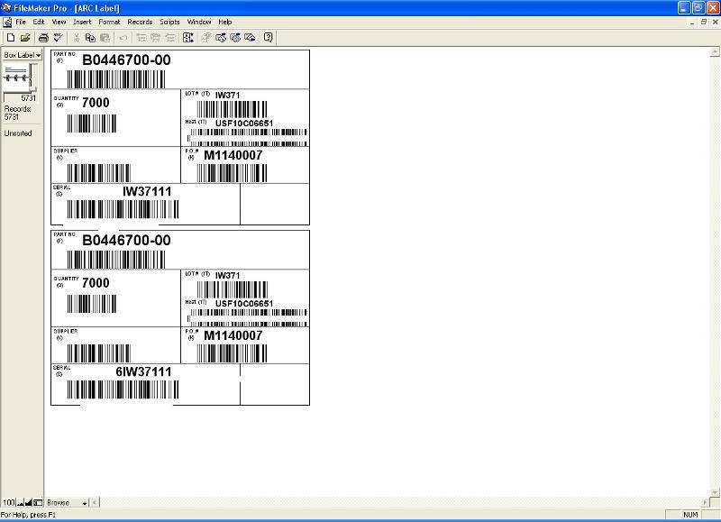 Split barcode