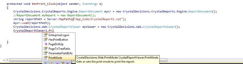CR13 Print Options