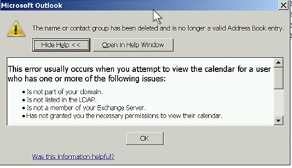 outlook shows that there is problem in email address