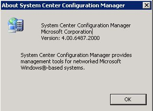 SCCM Version