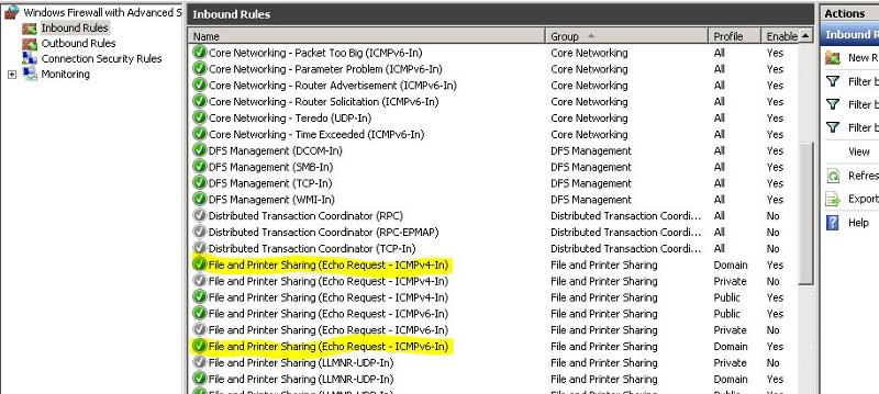 ICMP Firewall Setting