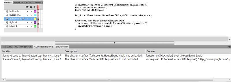Timeline, error code and code