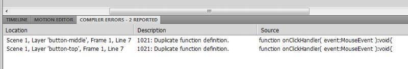 Duplicate error code