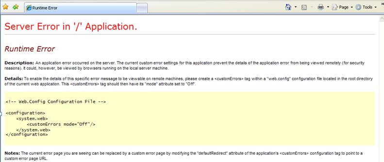 web service error