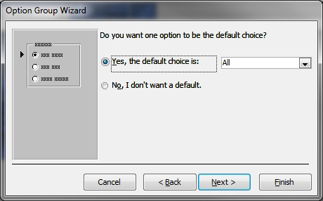 default Value selection