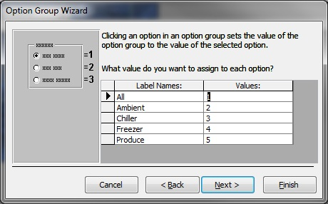 select values