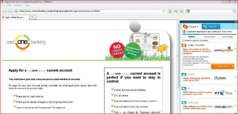 Dummy web page (malware?)