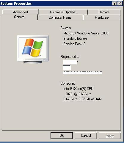 Server-General-properties