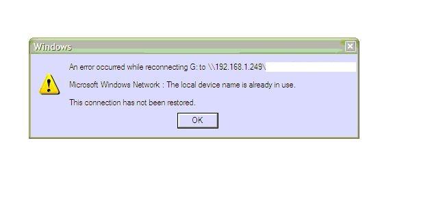 Inital error