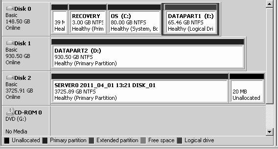 change partition size