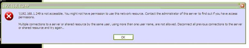 When I try and log in a Domain Admin from users computer
