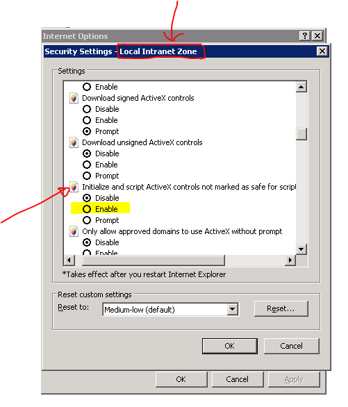 You must change this setting (or ask your network admin to set it via group policy)