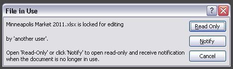 Locked for editing by 'another user' error