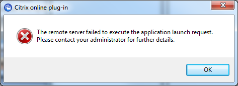 XENAPP 6 Web and Online Plugin could not contact the server