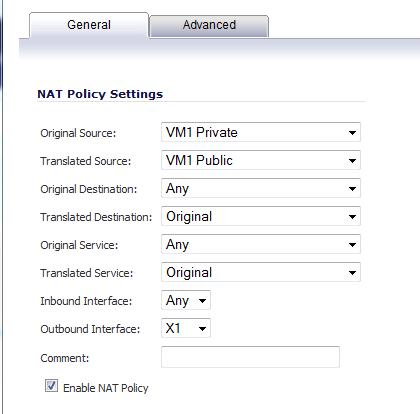 NAT Policy 1