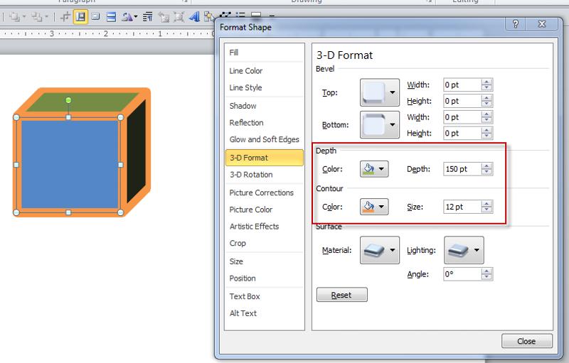 3D Format tab