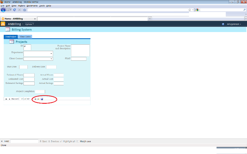 View of bar from web view.  Search missing.